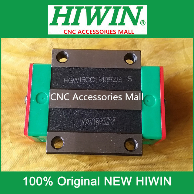 6pcs Original HIWIN HGW15CC linear guide block match with HGR15 rails
