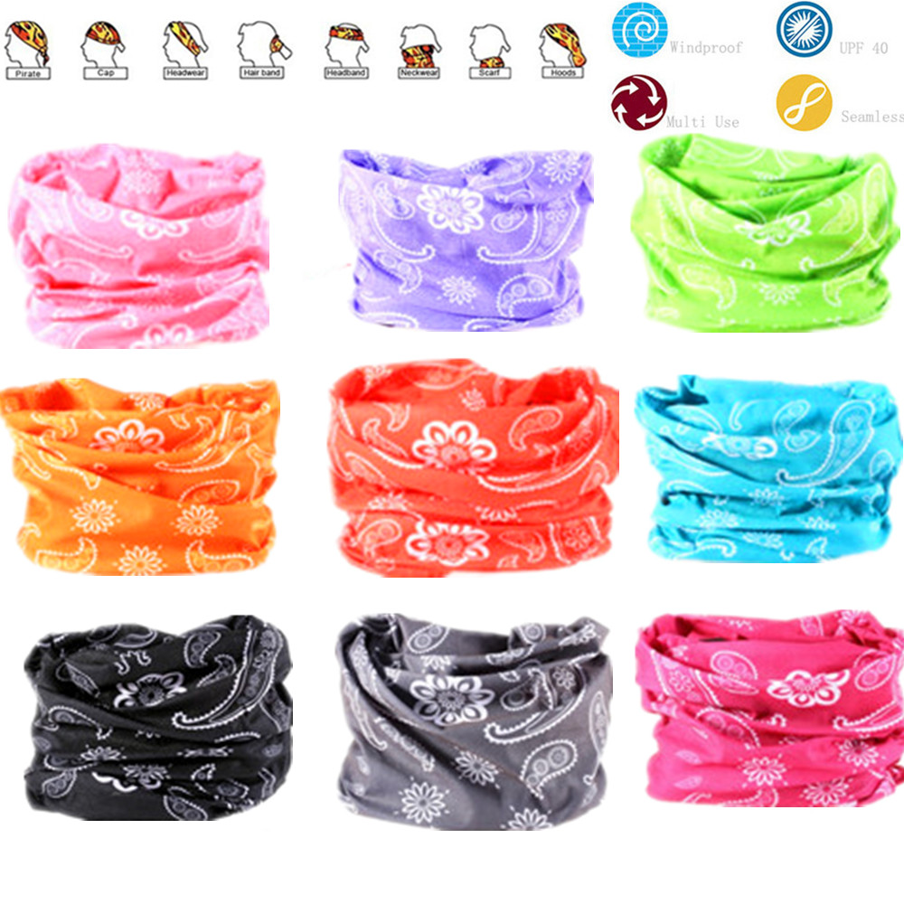 New Paisley Pattern Hijab Bandana Scarf With Seamless Neck Tubular Shape Standard Tube Face Mask Bicycle Head Ski Headwear