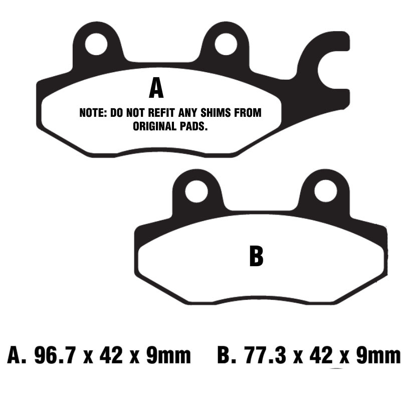 COMPLETE FRONT /& REAR SET DISC BRAKE PADS KYMCO Yager GT 125 GT125 07