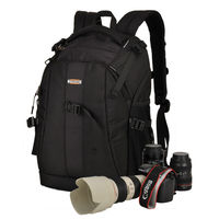 SINPAID Waterproof Deluxe DSLR Camera Backpack Multifunctional Photography Bag Anti Shock For Nikon Canon EOS Black