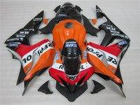 Orange black fitment Injection motorcycle set for HONDA CBR 600 RR fairings 07 08 bodyworks CBR600RR 2007 2008