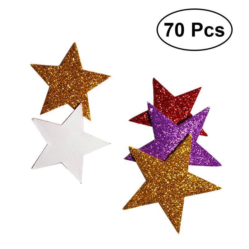 espuma de pegatinas purpurina autoadhesivas adhesivo decorativo para DIY Craft Wall Home Decor paquete de 150 ultnice