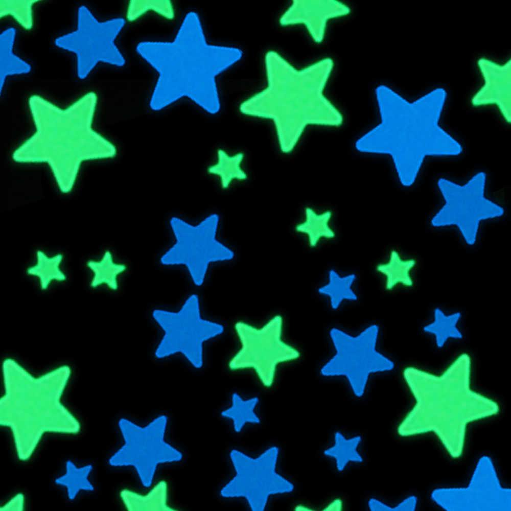 100pcs Glow In The Dark Stars Sticker Kid Room Wall Ceiling Diy Decoration Sticker Boy Girl Bedroom Decor Luminous Sticker Decal