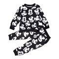 2016 Muchachas de Los Bebés de Moda Sport Suit Niños Mickey Ropa de Los Niños del Suéter + Pantalones de dos piezas de la Ropa de Algodón Jerseys