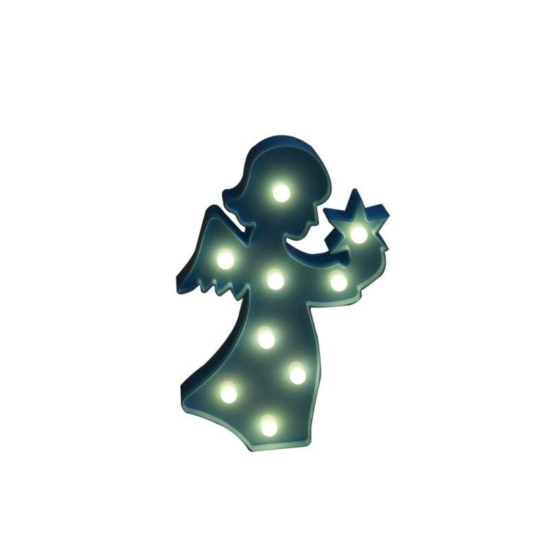 Дома Свадебные украшения Интимные аксессуары 3D Ангел кролик Жираф ночь свет Пластик светодиодные лампы для маленьких детей Спальня ночник...