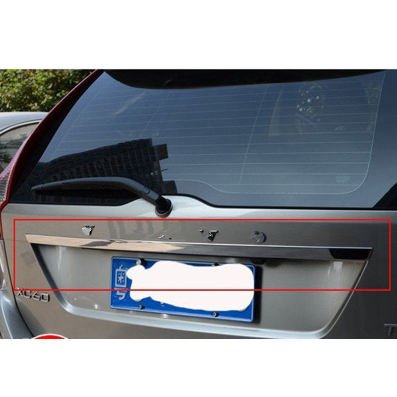 Para 2009-2013 volvo xc60 5dr hatchback alta qualidade de aço inoxidável traseiro tronco tampa capa guarnição