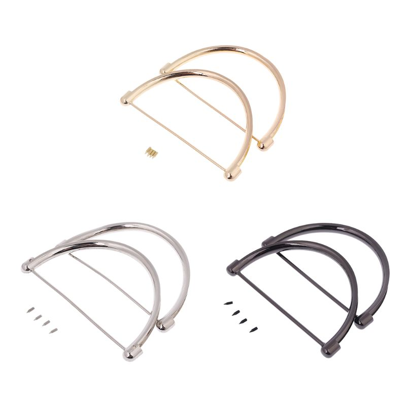 2pcs Women Metal Handle Replacement For Purse Beach Bag Handbag Small Shopping Tote DIY Craft Replacement Bag Making Accessories