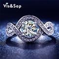 Branco banhado a ouro Torcida anéis anillos de compromiso brilhar cz diamante lindo Anéis de Casamento Para As Mulheres da moda Jóias VSR198
