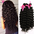 8A Não Transformados indiano Virgem Do Cabelo Encaracolado 5 Pacotes de Alta Qualidade cabelos crespos Tecer Humano Virgem Tecer Onda Profunda Do Cabelo Grosso e completo