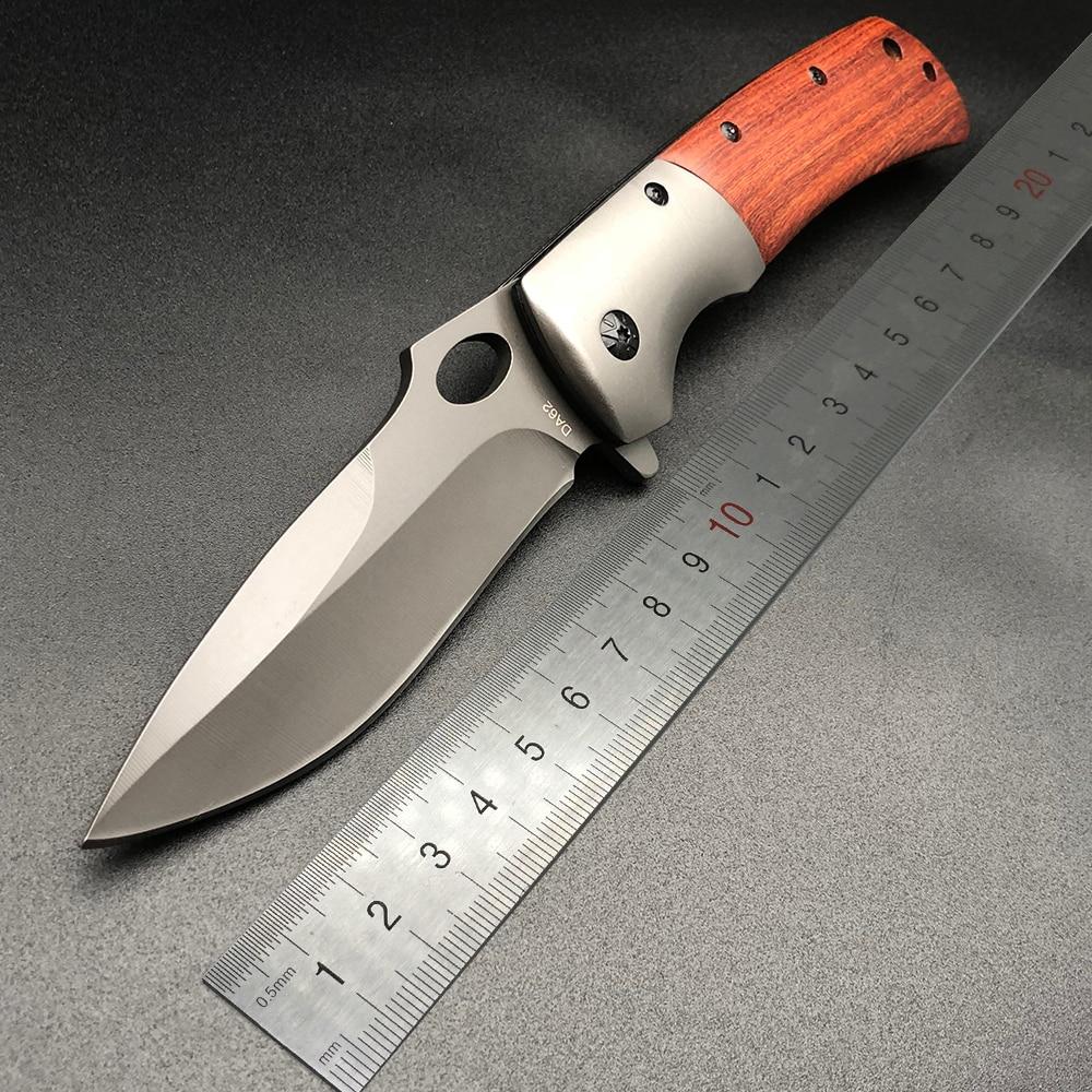 все цены на BMT Brown DA62 Folding Knife 5Cr13Mov Blade Steel Wood Handle Knife Survival Pocket EDC Tools Outdoor Camping Hunting Knives онлайн