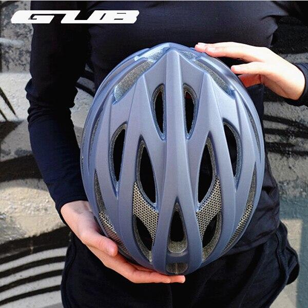 Gub Dd Große Größe Ultraleicht Radfahren Mtb Mountain Road Racing Fahrrad Helm Integral Geformten Visier Eps + Pc 28 Air Vents GroßE Vielfalt