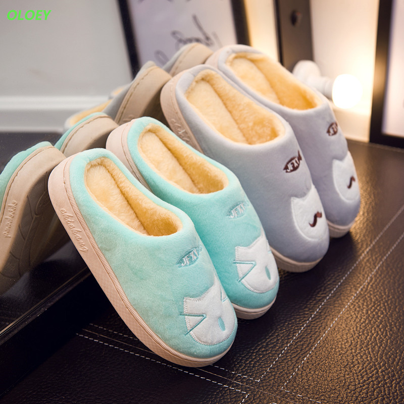 Ladies winter home slippers cartoon cat home shoes non-slip soft winter warm slippers indoor bedroom floor women home slippers striped soft bottom home slippers cotton winter warm shoes women indoor floor slippers non slips shoes for bedroom house tx003w