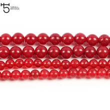 8mm Handmade Red Coral Beads for Jewelry Making Bracelet Diy Necklace Natural Stone Wholesale S011