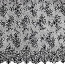 3 M/ Lot 150CM Wide Cheap Wholesale white Nylon jacquard eyelash lace fabric diy craft wedding dress clothing material