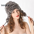 New Women Winter Warm Real Natural Genuine Rabbit Fur Cap Headwear Winter warm Hat Free Shipping DNT8356