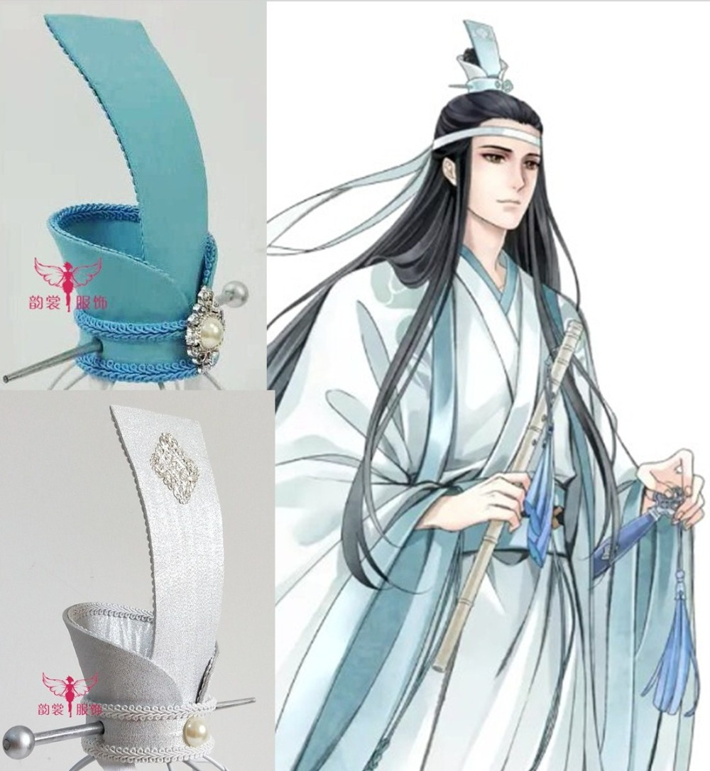 5 Designs Silver Blue Handmade Male Hair Tiara for Chinese Anime The Founder of Diabolism Ancient