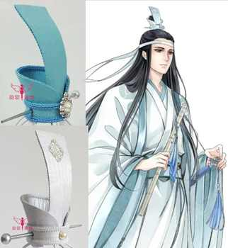 5 Designs Silver Blue Handmade Male Hair Tiara for Chinese Anime The Founder of Diabolism Ancient Chinese Lan Wangji Cos Hat - DISCOUNT ITEM  0% OFF All Category