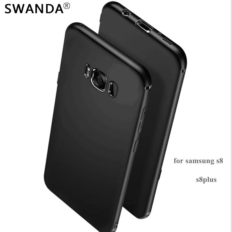 SWANDA soft TPU Case For samsung Galaxy S8 plus cases Slim Back Protect Skin Ultra Thin Phone Cover for samsung Galaxy S8 5.8