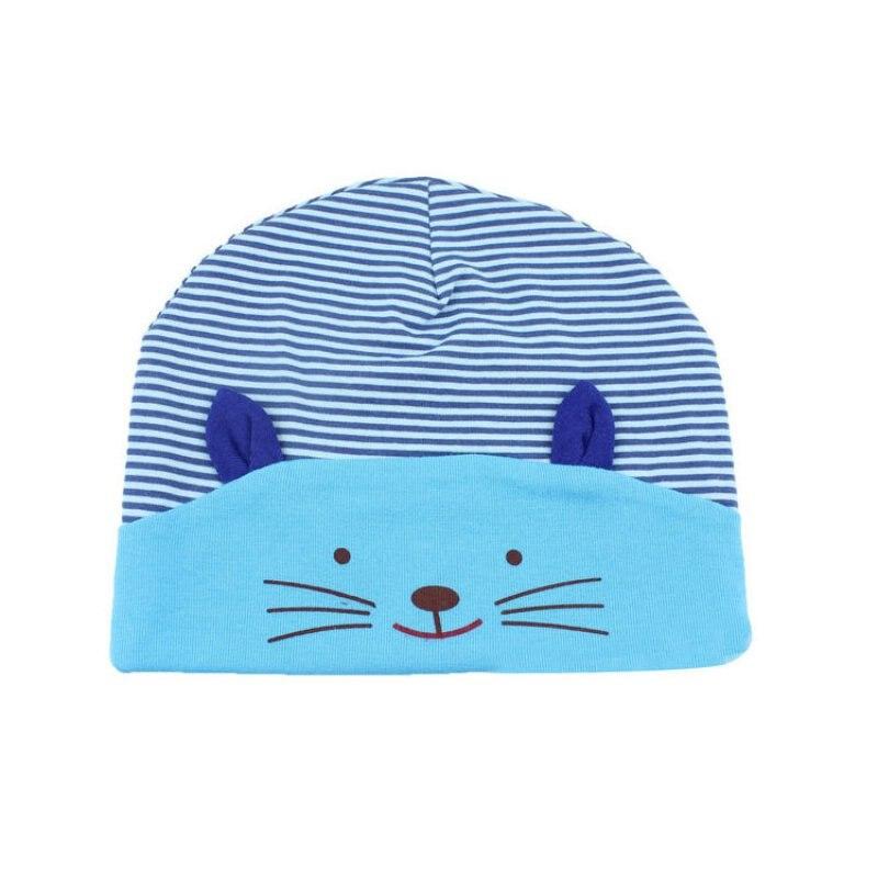 Hot Soft Cotton Baby Stripe Beanie Winter Toddler Infant Newborn Hat Lovely Cat Kids Cap Boys Girls Hat Accessories