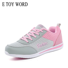 E TOY WORD Women Sneakers Tenis feminino Spring Autumn Breathable Mesh Casual Shoes Chunky Zapatillas Mujer