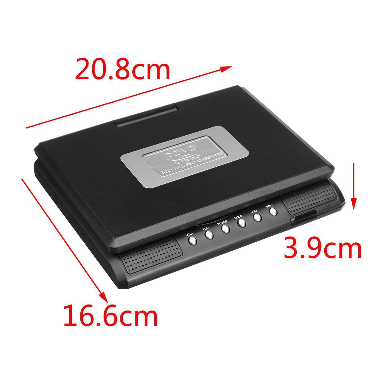 Portátil de 7,8 pulgadas HD TV casa coche reproductor de DVD VCD CD MP3 DVD USB SD reproductor de tarjetas RCA TV Portatil juego de Cable 16:9 pantalla LCD giratoria - 5