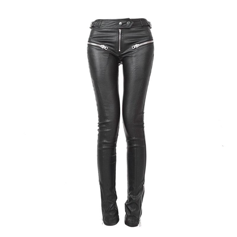 PU cuir pantalons femmes pantalons Femme \ x27s pantalons pantalons femmes plafones Mujer Cintura Alta Harajuku Streetwear gothique 2018