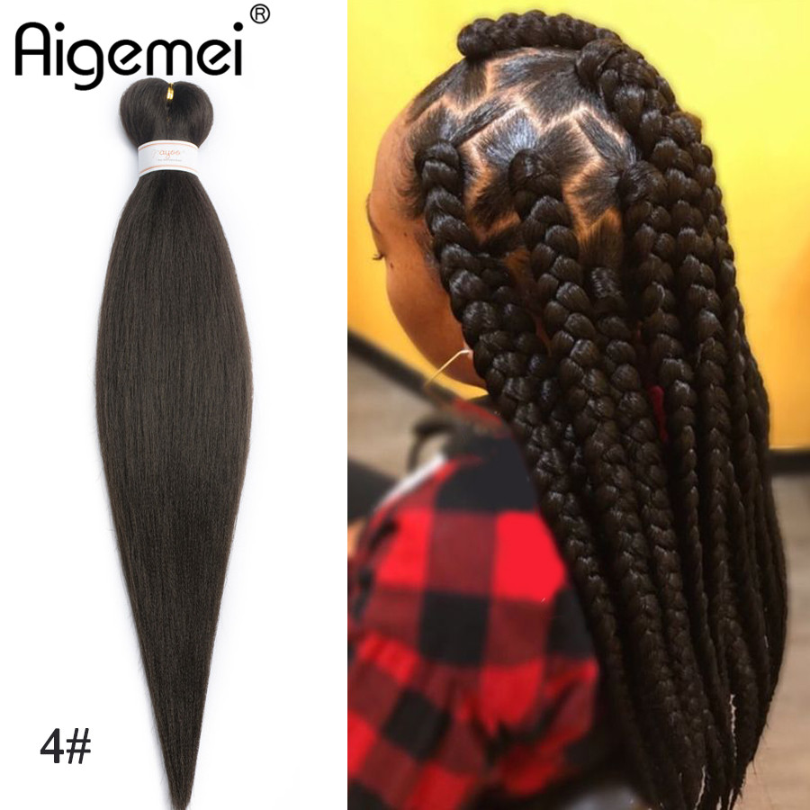 Hair Braids Kind-Hearted Aigemei Synthetic Kanekalon Jumbo Braiding Hair For Crochet Braids False Hair Extensions African Jumbo Braids For Women 22 Inch