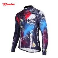 Tasdan Homens Sportswear Roupas de Ciclismo Mountain Bike Vestir a Camisa Ciclismo de Estrada Jersey Roupas de Manga Longa Homens