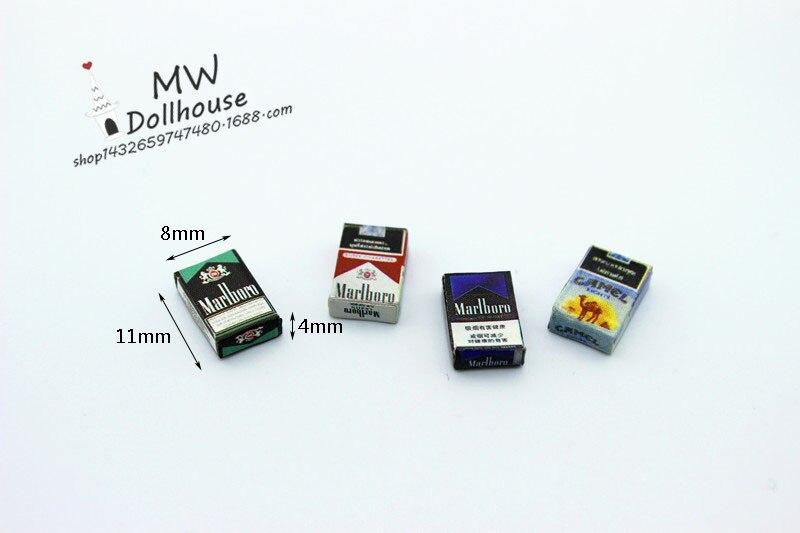 1set=4pcs Cigarette 1/6 1/12 Miniature Food Scene Model Small Cloth Doll House Accessories Mini Cigarette Case