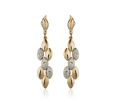 LZX Jewelry Store Rose Gold Color Fashion Ear of Wheat Shape Drop Earrings For Women Party Jewelry Wholesale