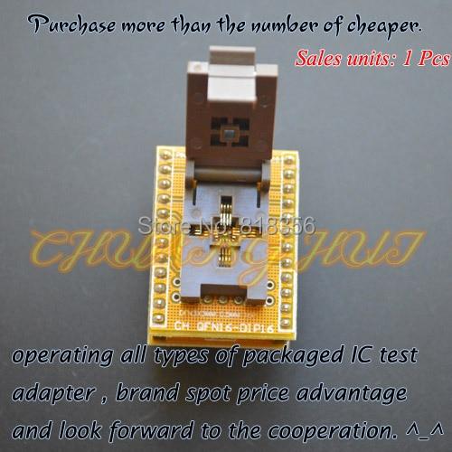 QFN16 to DIP16 adapter WSON16 MLF16 DFN16 ic test socket size=3x3mm Pitch=0.5mm