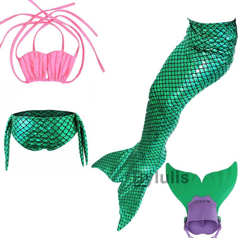 детский купальный костюм «хвост русалки» с моноланом, костюм для косплея, одежда для девочек, детский купальный костюм «хвост русалки» для плавания