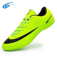 ZHENZU Professional Men Turf Indoor Soccer Shoes Cleats Kids Original Superfly futsal Football Boots Sneakers chaussure de foot