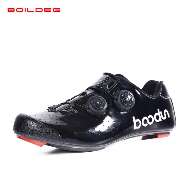 2019 novo quente sapatos de ciclismo de estrada de fibra de carbono auto-travamento ultraleve respirável wear antiderrapante profissional sapatos de corrida de bicicleta 4