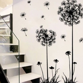 Hot Selling New Fashion Removable Art Vinyl Quote DIY Dandelion Wall Sticker Decal Mural Home Room Decor