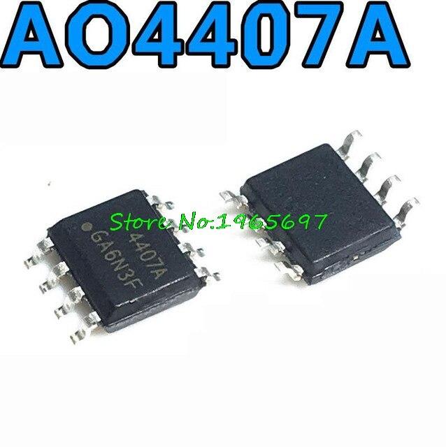 10pcs/lot AO4407AL AO4407A AO4407 4407A 4407 SOP-8 30V 12A In Stock