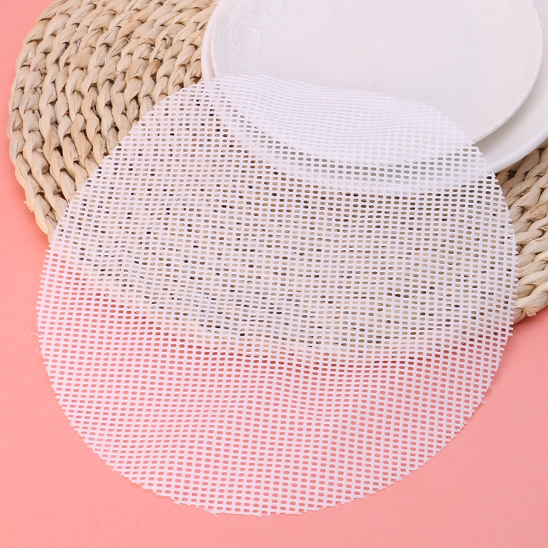 Silicone Non-Stick Steamer Pad Round Dumplings Mat For Steamed Stuffed Buns Y