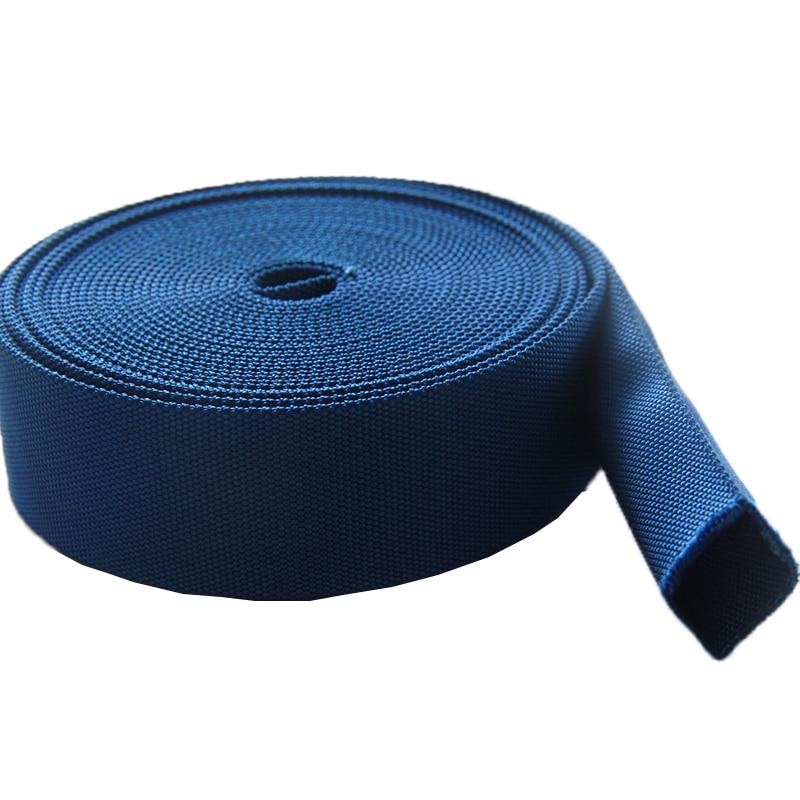 New arrival high quality tubular nylon webbing blue color 38mm 1 5 inch blue nylon tape