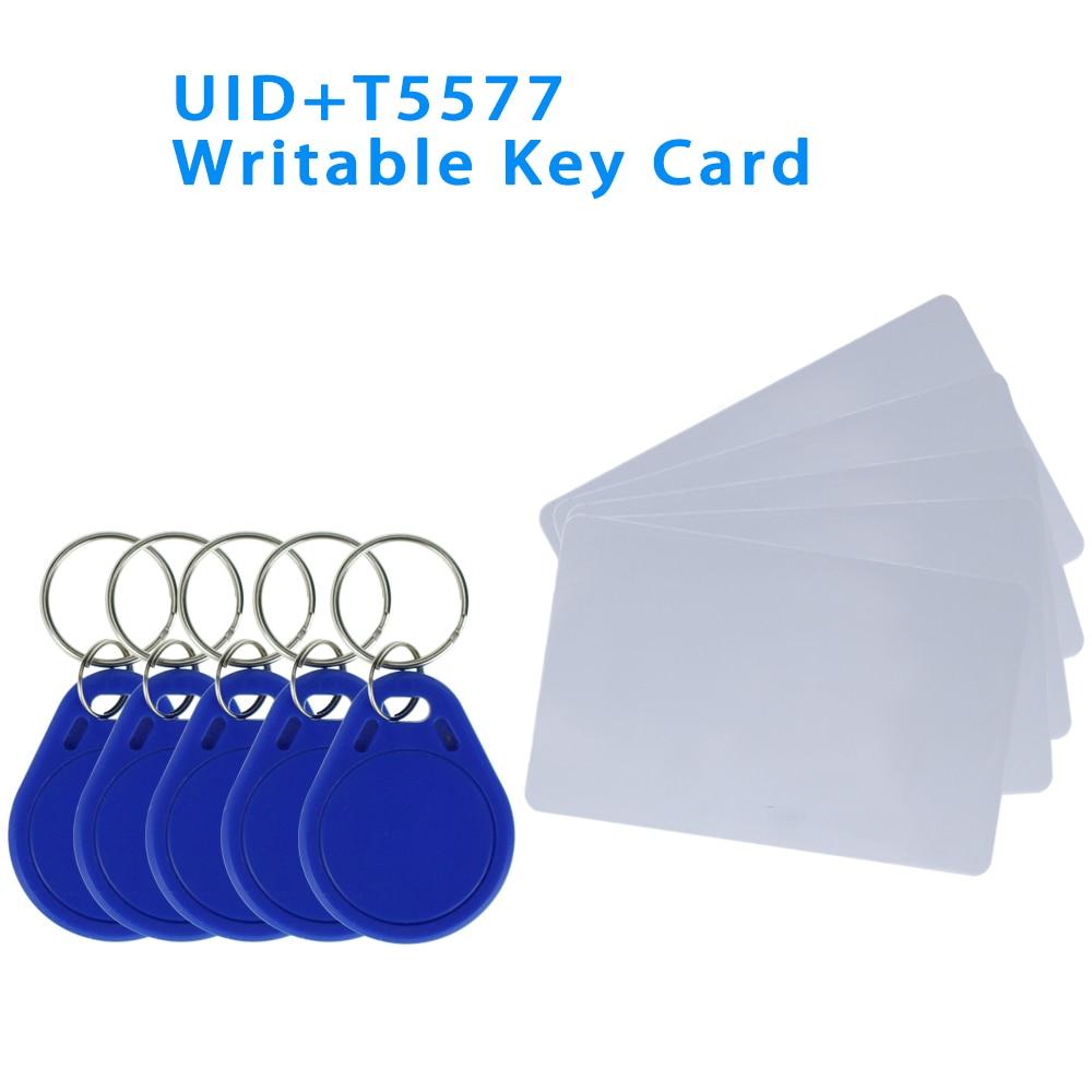 Read and Write UID Changeable NFC Tag Keyfob Token T5577/EM4305 Rewritable 125KHz/13.56MHz RFID Writable Access Key Card Copy