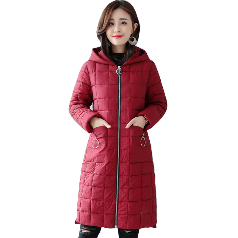 2019 New Design Winter Women Jacket Hooded Long Outwear Cotton Padded Coat Casual   Parka   Abrigos Mujer Invierno 2019