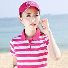 Brand Polo Shirts Women 2017 Summer Casual Cotton Poloshirt Plus Size Fashion Striped Polo Femme Short Sleeve Ladies Tops P016