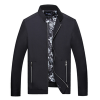 Brand Men Stand Collar Classic Bomber Jacket Leightweight Slim Fit Overcoat Male Jaqueta Masculina Autumn Jackets