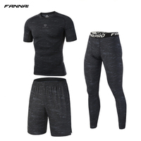 Men's 3 Pcs Compression Running Suits Prevent Sport Injuri Clothes Sports Jogging Suits Shorts Pants Joggers Gym Fitness Tights