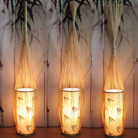Китайский стиль Торшеры Creative hotel лампа Японский минималистский Юго Восточной Вертикальной Бамбуковый чайная комната пол свет zl253 lu717101