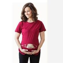 Godier Lustige Schwangerschaft T Shirts Für Schwangere Frauen 2017 Sommer Tees Frauen T-shirts Schlanke Cartoon Mutterschaft Pflege Tops Oansatz