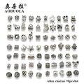 Atacado 70 pçs/lote Mix Estilo Antigo de Prata Banhado A Liga Grande Buraco Encantos Beads Fit Diy Pandora bracelet & bangles DIY jóias