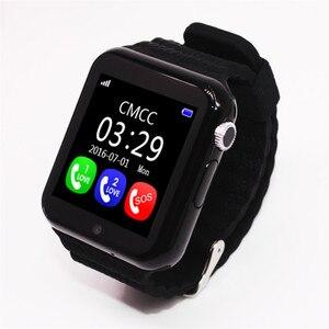 Image 5 - Oryginalny V7K GPS Bluetooth inteligentny zegarek dla dzieci chłopiec dziewczyna Apple telefon z systemem android wsparcie SIM/TF wybierania połączeń i Push wiadomość