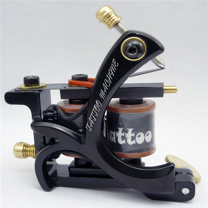 Professional 10 Wrap Coils Permanent Tattoo Machine Shader Liner Carbon Steel Rotary Gun Machine For Tattoo Supplier