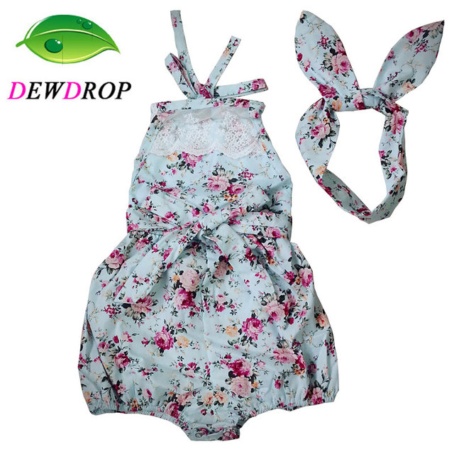 e2a025dae DEWDROP) Rose Floral Printed Baby Romper
