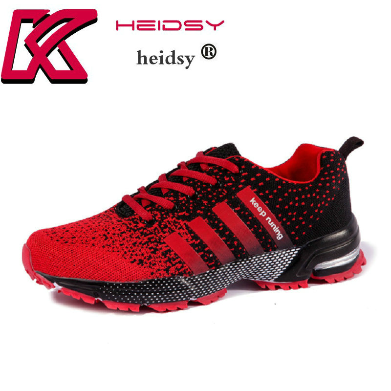 2018 New Arrival Spring Men's Trainers Sneakers Running Shoes for Men Sport Walking Jogging Gym Sneakers Plus Size 35-47